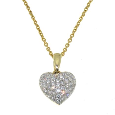 0769-051 Hanger hart met 0.51 crt briljant