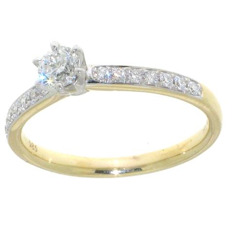 1359-040 vraag haar ten huwelijk met deze verlovingsring met 0.40 crt. briljant