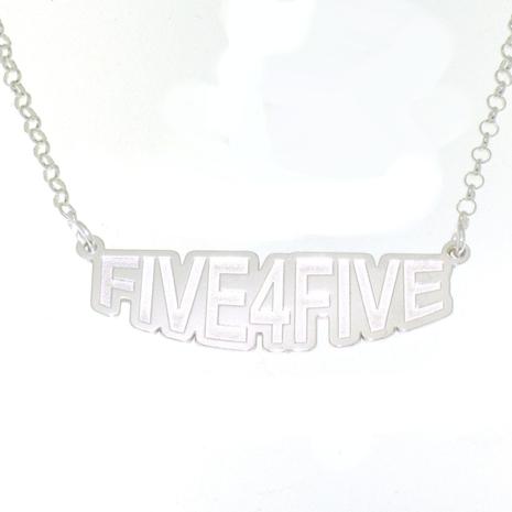 1 Zilveren hanger Five4Five