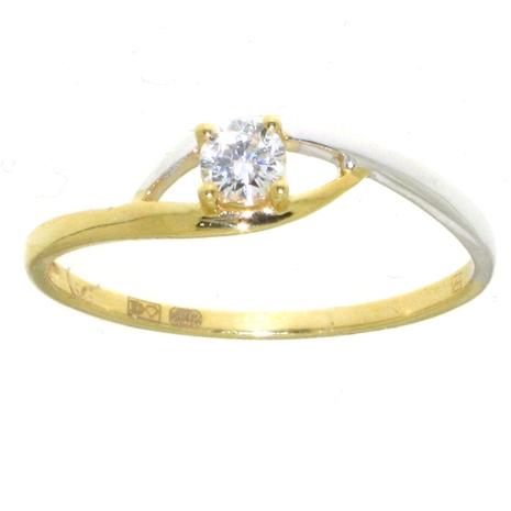 Damesring AH150-B Hartenwens goud zirconia