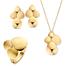 .Set 28401-5-7 gouden collier oorknoppen en damesring 1999