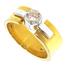 2739-052 Brede gouden damesring met 0.52 crt. briljant